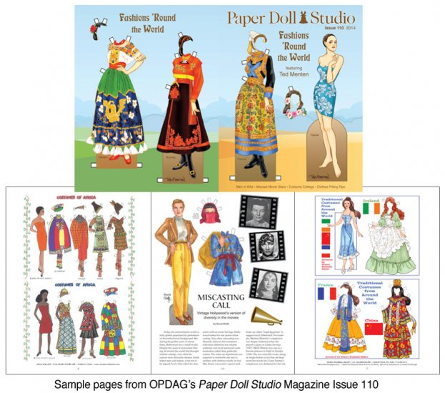 OPDAG - Paper Doll Studio Issue 110 - Fashions Round the World - Click Image to Close
