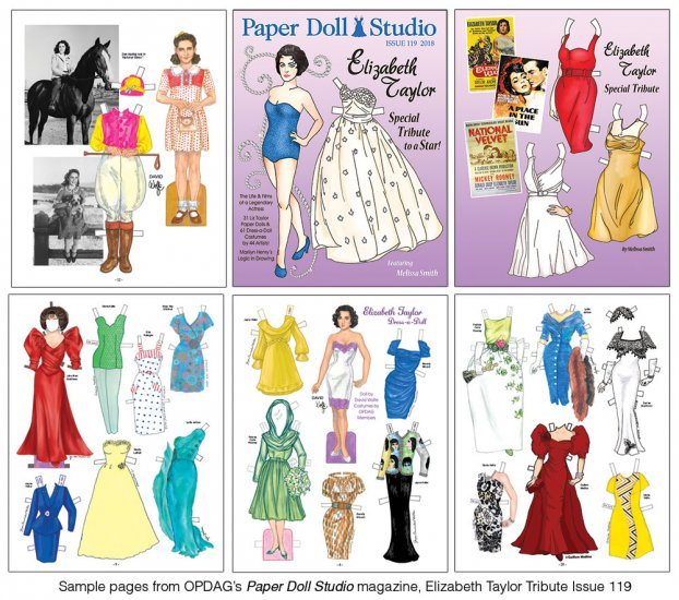 OPDAG - Paper Doll Studio Issue 119 - Liz Taylor - Click Image to Close