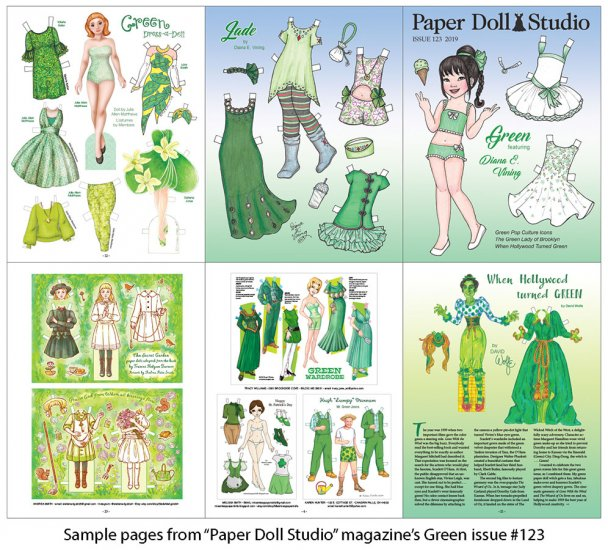 OPDAG - Paper Doll Studio Issue 123 - Green - Click Image to Close