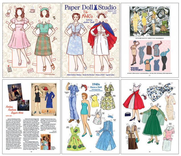 OPDAG - Paper Doll Studio Issue 125 - The 1940s - Click Image to Close