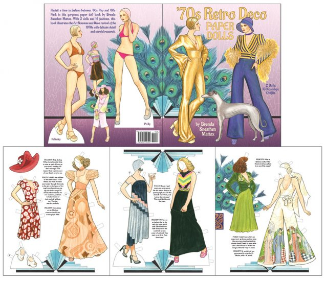 '70s Retro Deco Paper Dolls - Click Image to Close