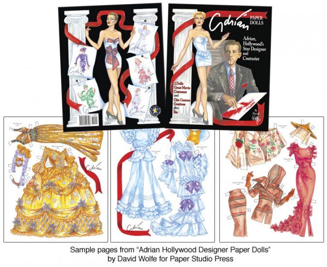 Adrian, Hollywood Designer Paper Dolls - Click Image to Close