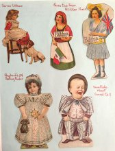 Set of advertising Dolls - Billiken, Shepherd's, more - ONE ONLY