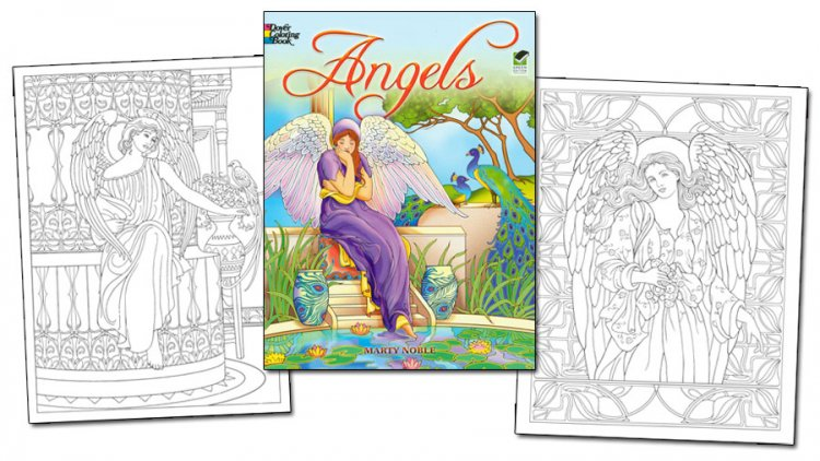 Angels Coloring Book - Click Image to Close