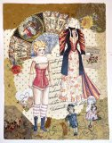 Antique Doll Paper Doll Collage - JUST ONE AVAILABLE