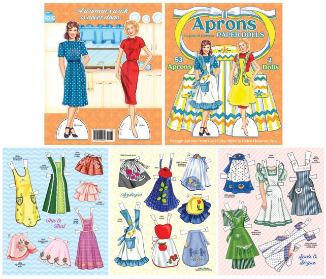 Aprons Paper Doll Book by Judy M Johnson preview