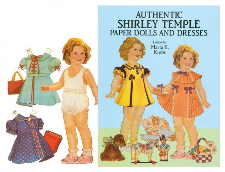 Authentic Shirley Temple Paper Dolls - Click Image to Close