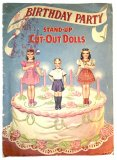 Birthday Party Stand-Up Cut-Out Dolls - vintage 1944 - ONE ONLY