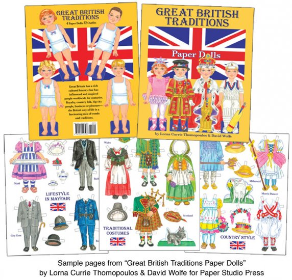 Great British Traditions Paper Dolls - Click Image to Close