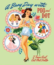 A Busy Day with Peg and Dot Paper Dolls