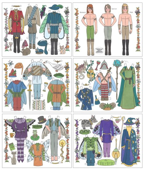 CHARMING - Paper Dolls from the Land of Faerie - Click Image to Close