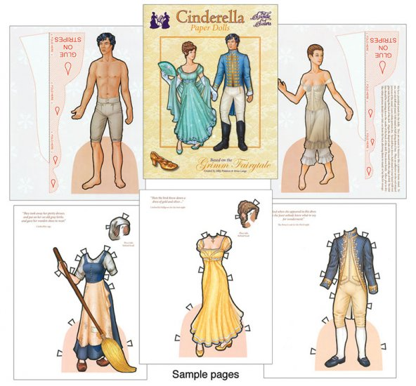 Cinderella Paper Dolls by the Spindle Sisters - Click Image to Close