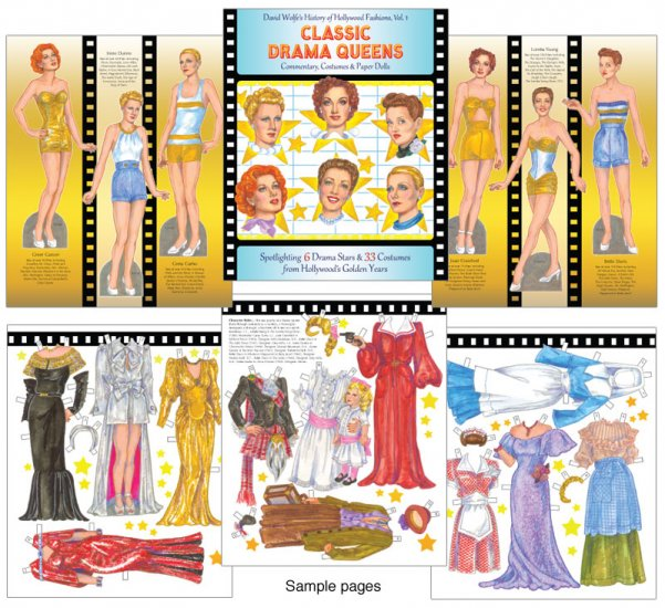 Classic Drama Queens Fabulous Ladies From Film Paper Dolls Of Classic Stars Vintage Fashion And Nostalgic Characters For Kids And Collectors