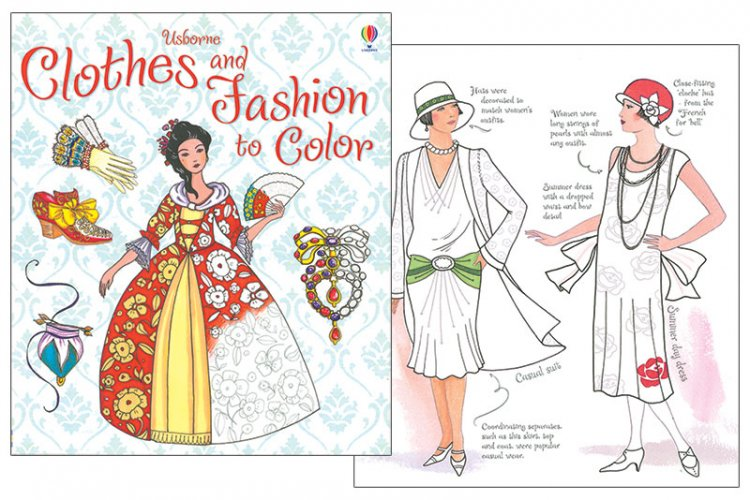 Clothes and Fashion to Color - Click Image to Close