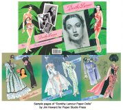 Dorothy Lamour Paper Dolls - scratch n dent