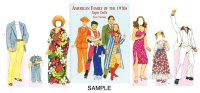 American Family of the 1970s Paper Dolls