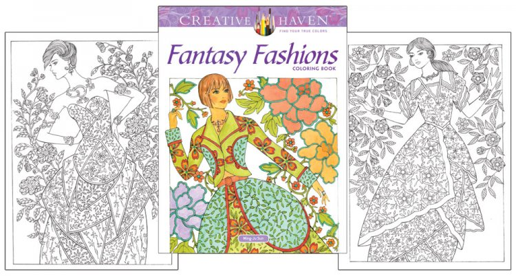 Fantasy Fashions Coloring Book - Click Image to Close