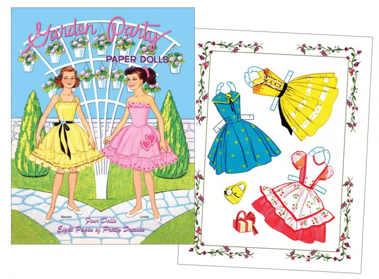 Garden Party Paper Dolls - Click Image to Close