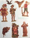 German Embossed Fanciful Characters - circa 1890 - ONE ONLY