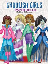 Ghoulish Girls Paper Dolls