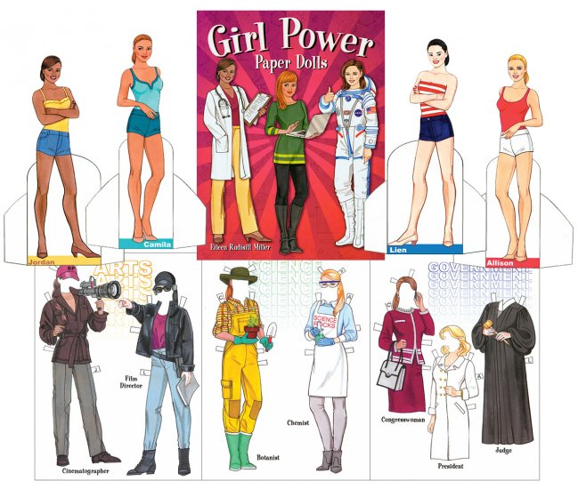 Girl Power Paper Dolls - Click Image to Close