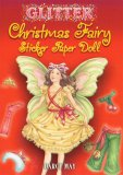 Glitter Christmas Fairy Sticker Paper Doll