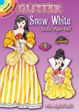 Glitter Snow White Paper Doll
