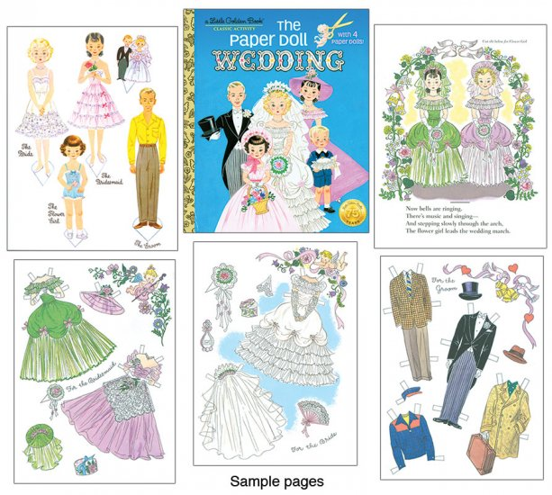 The Paper Doll Wedding - A Little Golden Book - Click Image to Close