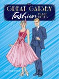 The Great Gatsby Fashion Paper Dolls plus Pool Backdrop