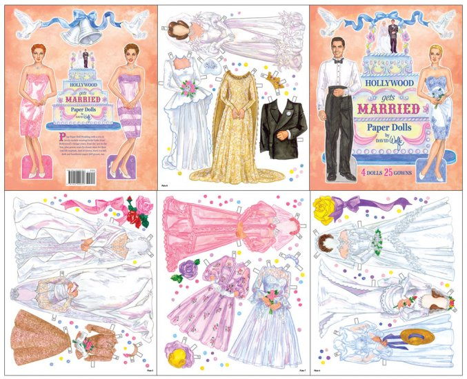 Hollywood Gets Married Paper Dolls - Click Image to Close