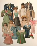 C.I. Hood & Co. Family Paper Dolls - antique 1894 - ONE ONLY