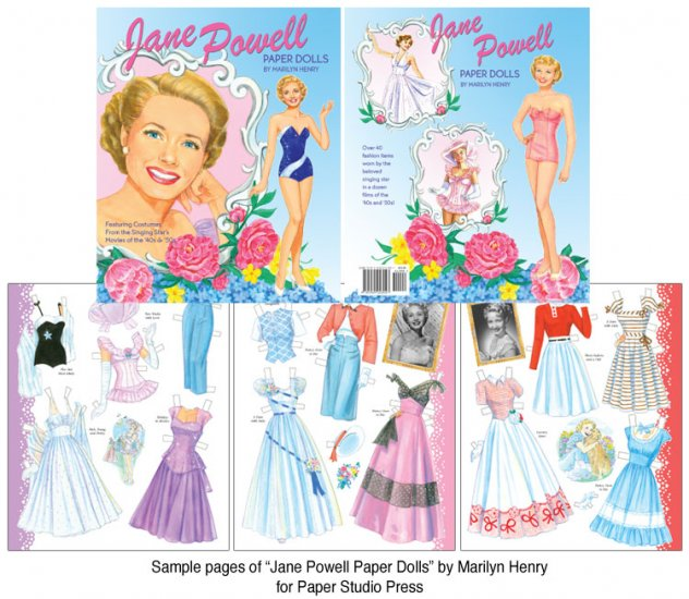 Jane Powell Paper Doll by Marilyn Henry - Click Image to Close