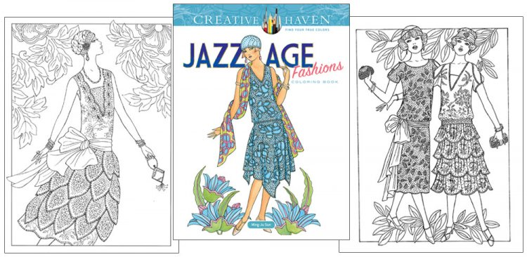 Jazz Age Fashions Coloring Book - Click Image to Close