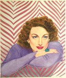 Lovely Joan Crawford Portrait Print by Marilyn Henry - FOUR ONLY