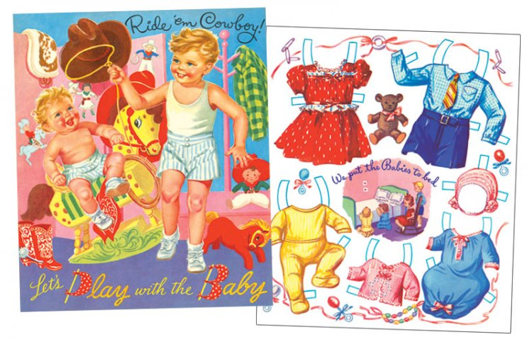 Let's Play with the Baby Paper Dolls - Click Image to Close