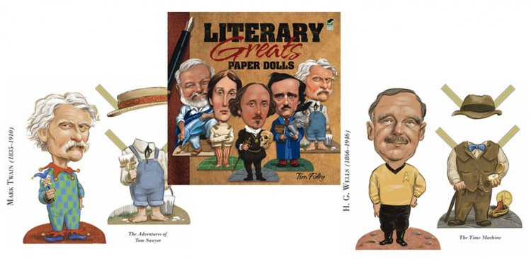 Literary Greats Paper Dolls by Tim Foley - Click Image to Close