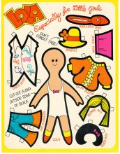 Lola - Lum's Restaurant Advertising Paper Doll - ONE ONLY
