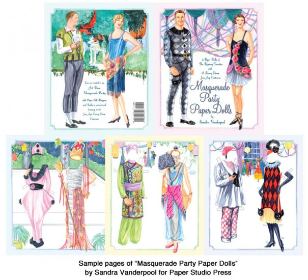 Masquerade Party Paper Dolls - Click Image to Close