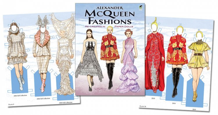 Alexander McQueen Paper Doll - Click Image to Close