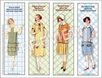 Mid-'20s Frocks Bookmarks