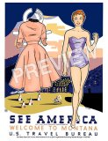 Montana Paper Doll Travel Print