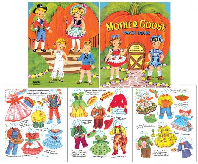 Mother Goose Paper Dolls - Click Image to Close