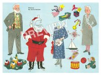 Mr. and Mrs. Claus Paper Doll