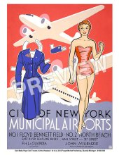 New York Airport Travel Poster