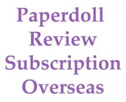 Paperdoll Review Magazine Subscription - Overseas