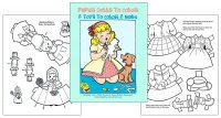 Paper Dolls to Color & Toys to Color & Make