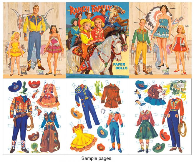 The Ranch Family Paper Dolls - Click Image to Close