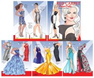 Red Carpet Paper Dolls by Rudy Miller