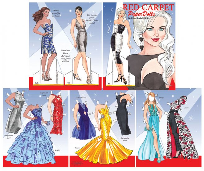 Red Carpet Paper Dolls by Rudy Miller - Click Image to Close