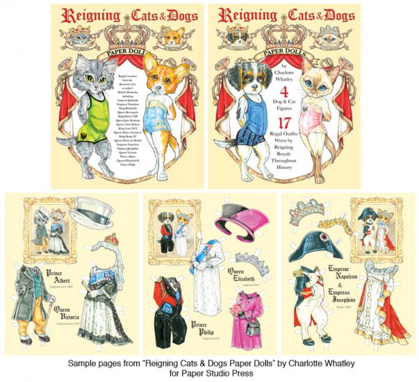Reigning Cats and Dogs Paper Dolls - Click Image to Close